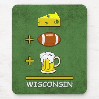Mousepad O queijo mais o futebol mais a cerveja é Wisconsin