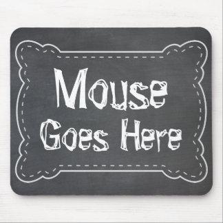 Mousepad O rato vai aqui quadro-negro