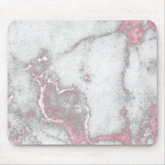 Mousepad O rosa do rosa cora o encanto de pedra de mármore