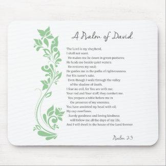 Mousepad O salmo de David o senhor é meu verso da bíblia do