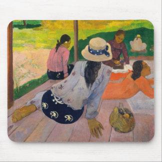 Mousepad O Siesta por mulheres Tahiti de Paul Gauguin
