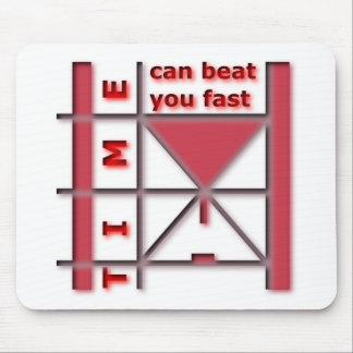 Mousepad O tempo pode batê-lo rapidamente