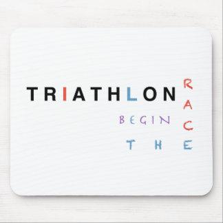 Mousepad O Triathlon deixou a raça começar