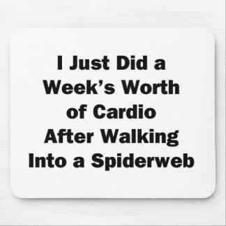 Mousepad O valor da semana de cardio-