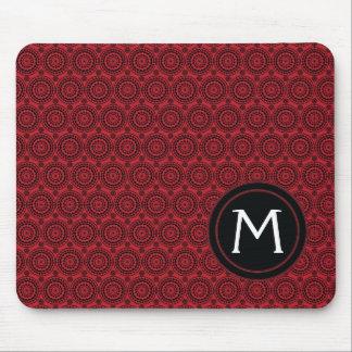 Mousepad O vermelho com laço preto arredonda o teste padrão