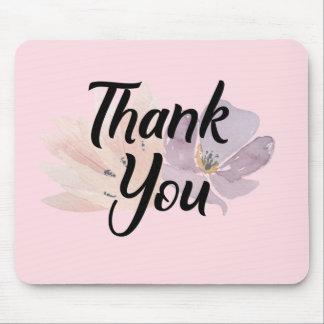 Mousepad Obrigado floral você presente