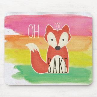 Mousepad Oh para listras da aguarela da causa do Fox