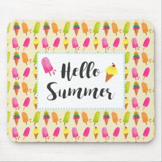 Mousepad Olá! Popsicles e sorvete do verão