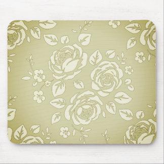Mousepad Old_Retro-Floral (c) Unisex_Cream_