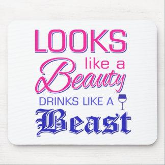 Mousepad Olha como bebidas de uma beleza como um animal