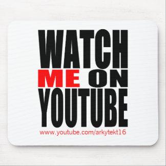 Mousepad Olhe-me em YouTube   modernos (escuro)