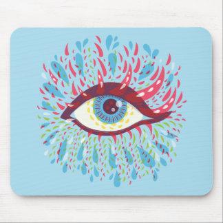 Mousepad Olho psicadélico azul estranho dos rasgos