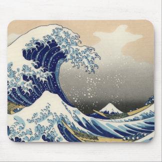 "Mousepad Onda de Hokusai ""a grande fora de Kanagawa"""