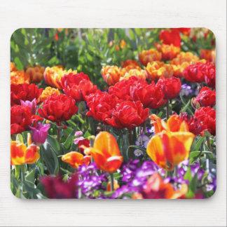 Mousepad Ondas florais dos carmesins de Falln