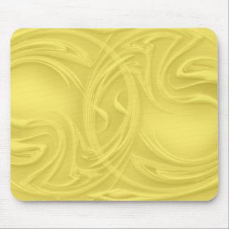 Mousepad Ondas sobre trabalhos de arte amarelos