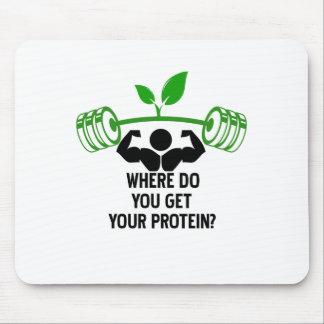 Mousepad Onde você obtem sua proteína