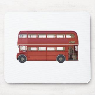 Mousepad Ônibus do vermelho do autocarro de dois andares
