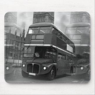 Mousepad Ônibus preto & branco de BW Big Ben de Londres &