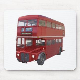 Mousepad Ônibus vermelho do autocarro de dois andares no