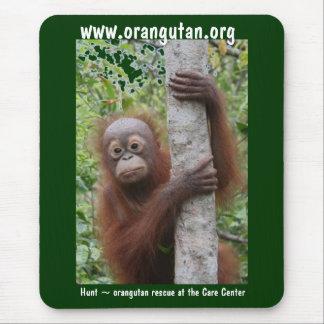 Mousepad Orangotango bonito de Bornéu do bebê