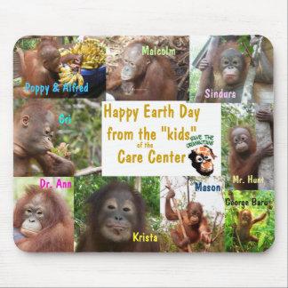 Mousepad Orangotango Bornéu Sumatra do Dia da Terra