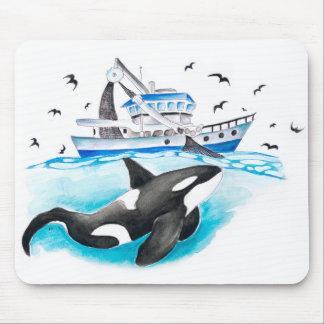 Mousepad Orca e o barco