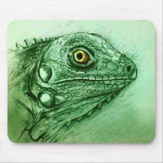 Mousepad original da arte do vintage - iguana