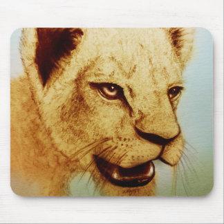 Mousepad original da arte do vintage - leão