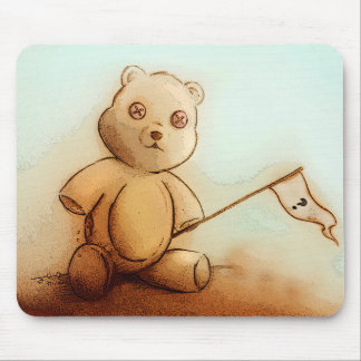 Mousepad original da arte do vintage - ursinho