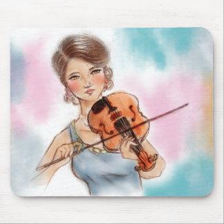Mousepad original da arte do vintage - violino