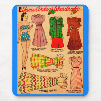Mousepad os anos 30 forram a boneca Jane Arden e os seis