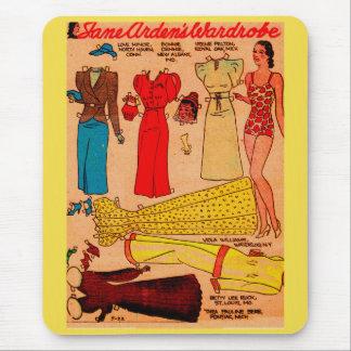 Mousepad os anos 30 forram a boneca Jane Arden quatro