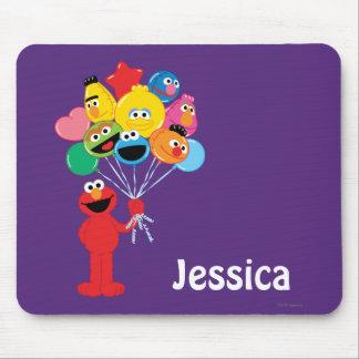 Mousepad Os balões de Elmo   adicionam seu nome
