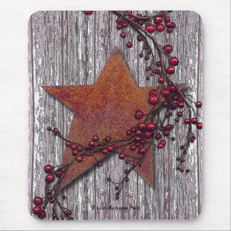 Mousepad Os conselhos do celeiro com estrela oxidada