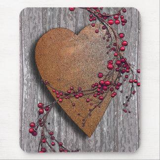 Mousepad Os conselhos do celeiro oxidaram coração