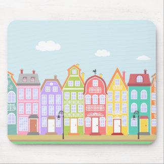 Mousepad Os desenhos animados velhos bonitos da cidade