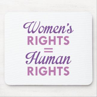 Mousepad Os direitos das mulheres são direitos humanos
