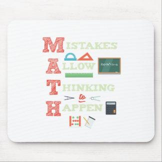 Mousepad Os erros reservam pensar para acontecer professor