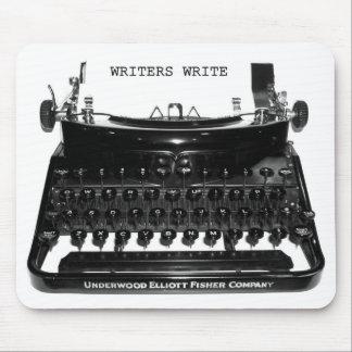 Mousepad Os escritores escrevem a máquina de escrever
