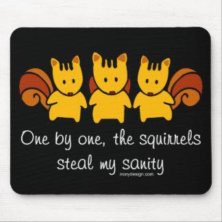 Mousepad Os esquilos roubam minha sanidade