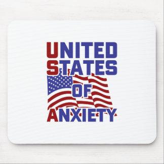 Mousepad Os Estados Unidos da ansiedade