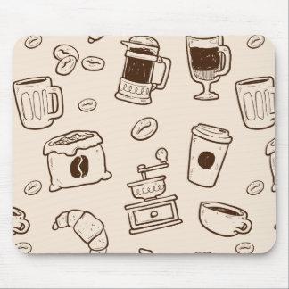 Mousepad Os feijões de café de Brown ilustraram o teste