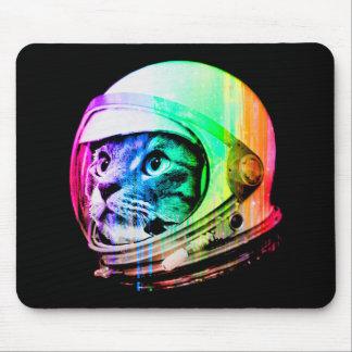 Mousepad os gatos coloridos - astronauta do gato - espaçam