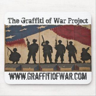 Mousepad Os grafites do projeto da guerra: Bandeira da