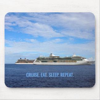 Mousepad Os navios de cruzeiros caribe o cruzeiro das