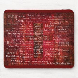 Mousepad Os nomes do Jesus Cristo da bíblia