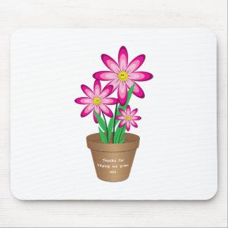 Mousepad Os obrigados para ajudar-me crescem - a flor feliz