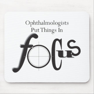 Mousepad Os oftalmologista pôr coisas no foco