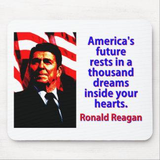 Mousepad Os restos futuros de América - Ronald Reagan