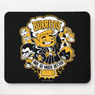 """Mousepad Os titã adolescentes vão! O menino """"Burritos do"""